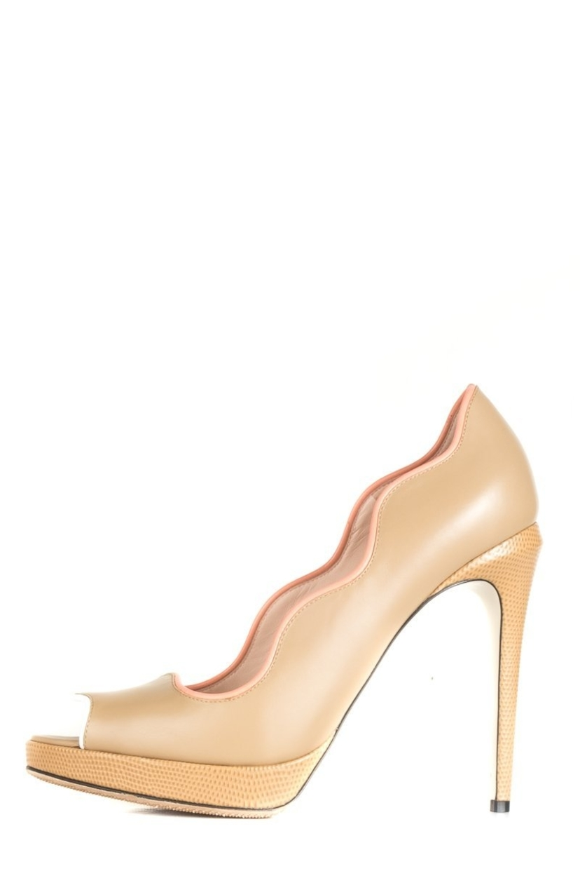 Fendi Fendi Nude Peep-Toe Heels 40 Shoes