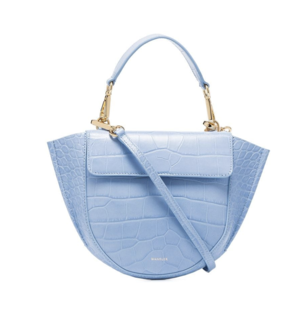 Wandler Hortensia Mini Bag in Blue Croc Bags
