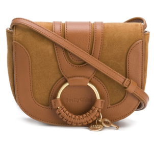 See by Chloé Suede and Leather Crossbody in Caramel Bags