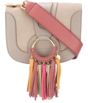 See by Chloé Suede and Leather Handbag with Fringe Bags