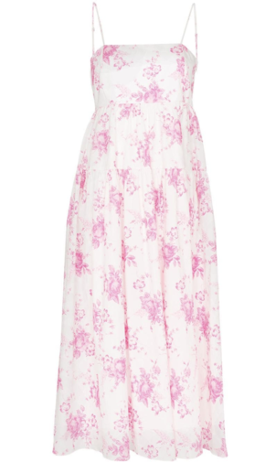 Les Reveries Pink Floral Dress Dresses