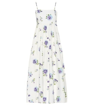 Les Reveries Blue Floral Dress Dresses