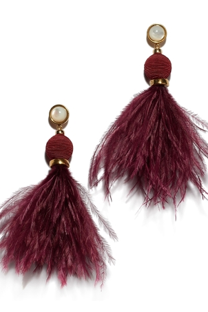 Lizzie Fortunato Parker Earrings In Burgundy Jewelry