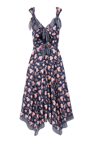 La Vie Rebecca Taylor Adelle Scarf Printed Dress Dresses