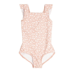 Minnow Girl's Melone Floral Crossover One Piece Kids