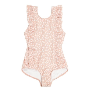 Minnow Girl's Melone Floral Ruffle One Piece Kids