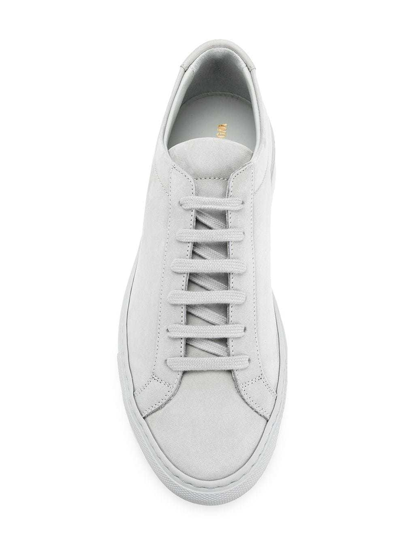 Common Projects Grey Nubuck Achilles Low Sneakers Shoes
