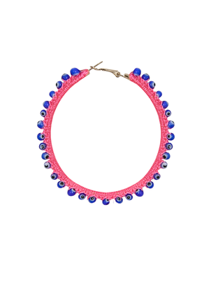 My Beachy Side Hoop Earring Light Pink Jewelry
