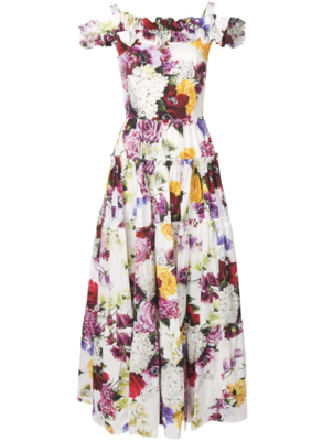 Dolce & Gabbana Sleeveless Floral Maxi Dress Dresses