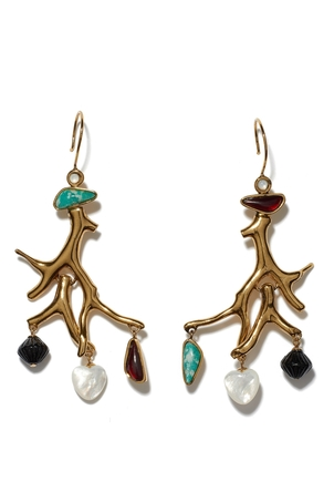 Lizzie Fortunato Lagoon Earrings Jewelry