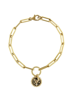 Foundrae Foundrae Dark Blossom Resilience Disk On Clip Chain Bracelet Jewelry
