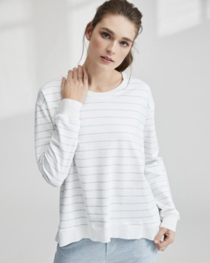Tee Lab by Frank & Eileen Graceful Lightweight Sweatshirt - Stripe Sale Tops