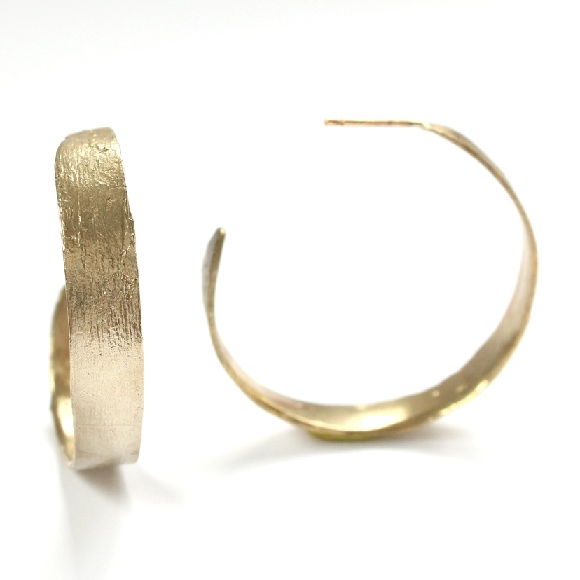 Mary Frances Flowers Birch Hoops Jewelry