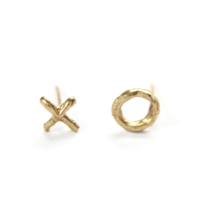 Mary Frances Flowers XO Studs Jewelry