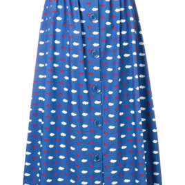Blue Cloud and Lips Skirt