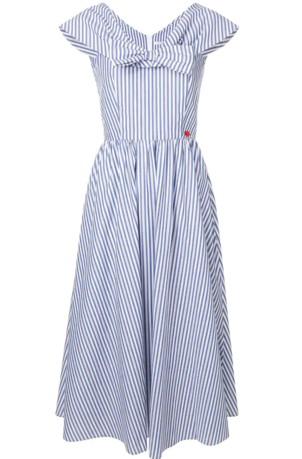Vivetta Striped Bow Dress Dresses