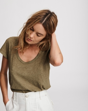 rag & bone U Neck Tee Tops