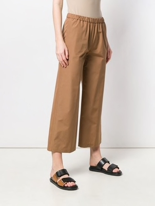 Aspesi Wide Leg Cropped Trousers Pants
