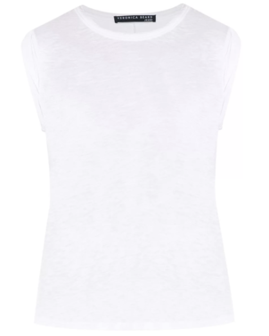 Veronica Beard Dree Muscle Tee - White Sale Tops