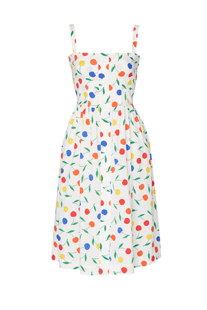 HVN Laura Cotton Dress - Rainbow Cherry Dresses