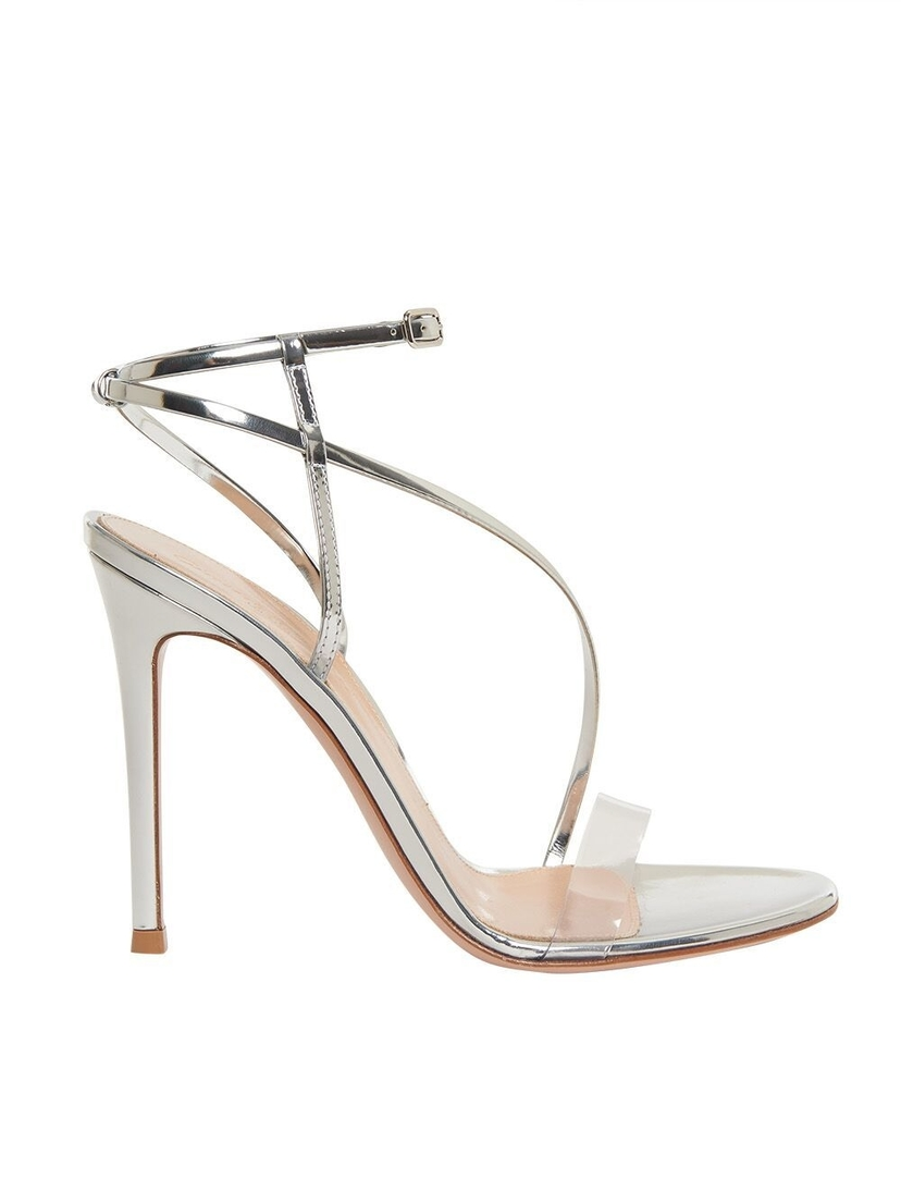 Gianvito Rossi Gianvito Rossi - Open Toe Strappy Metallic PVC Heels Shoes