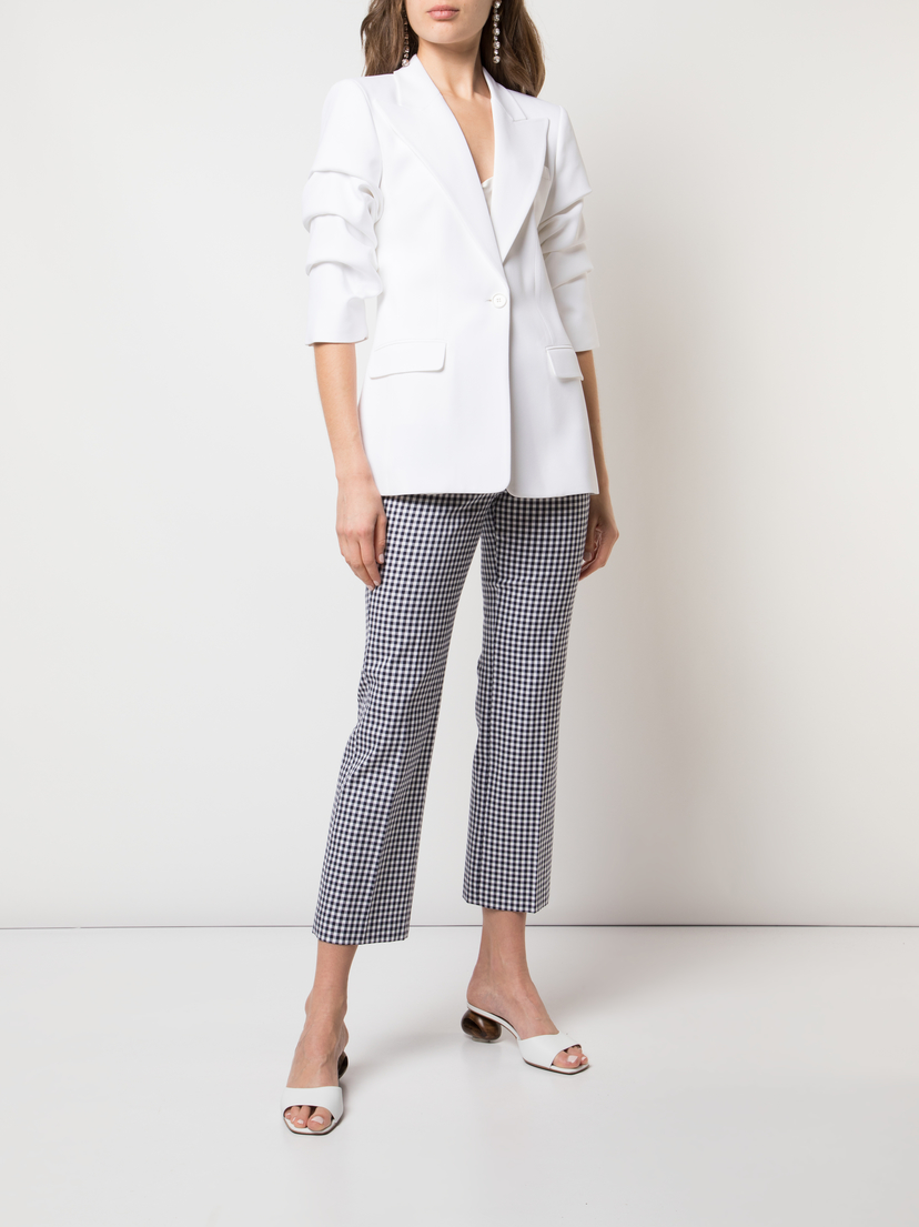 Michael Kors Collection Straight Leg Gingham Pant Pants