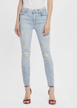 Mother Mother High Waisted Looker Ankle Fray in Super Blast From The Past Pants