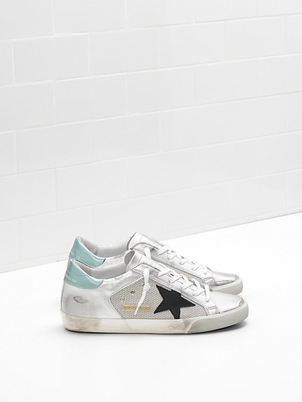 Golden Goose Deluxe Brand Superstar Sneaker with Black Star Shoes