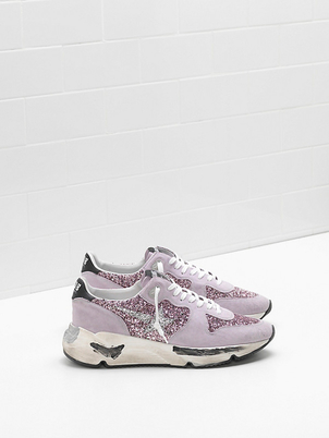 Golden Goose Deluxe Brand Lavender Glitter Coated Runner Shoes