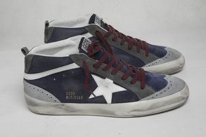 Golden Goose Deluxe Brand Navy Suede Midstar Sneaker Shoes