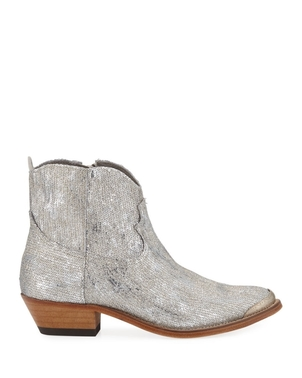 Golden Goose Deluxe Brand Young Sparkles Sequined Western Boot Shoes