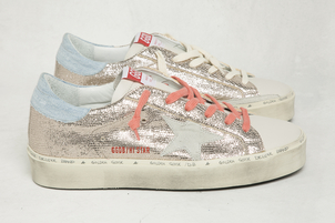 Golden Goose Deluxe Brand Hi Star Rose Gold Lizard Ice Star GGDB Sneakers Shoes