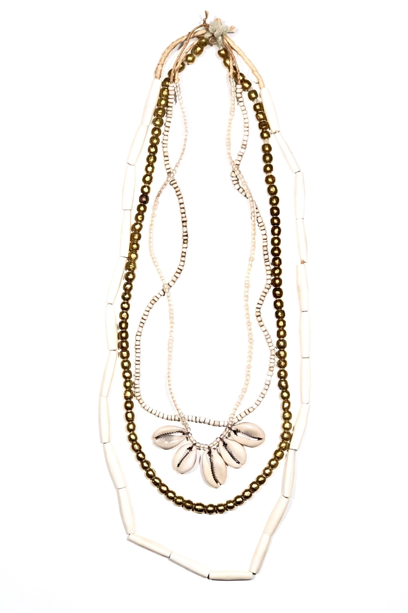 Twine & Twig Cowrie Layer Necklace Set | Gold Jewelry