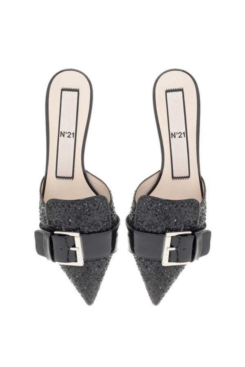 N°21 Glitter pointed mules Shoes