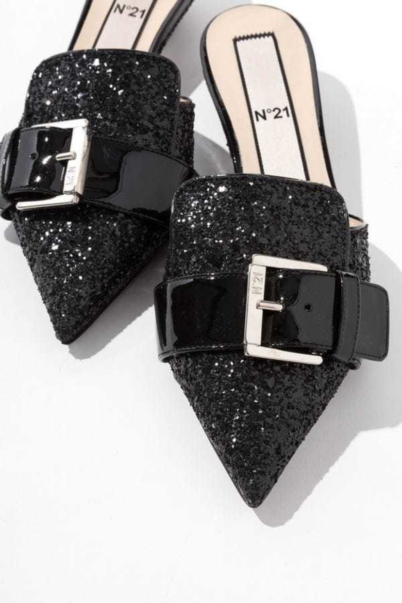 N°21 Glitter pointed mules Sale Shoes