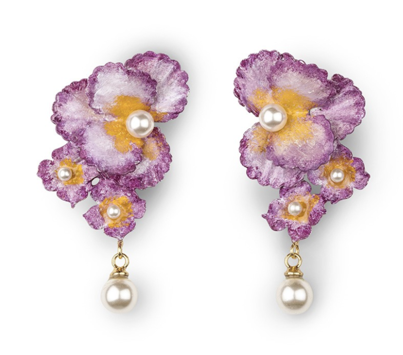 Jennifer Behr Sadira Earrings in Wild Violet Gifts Jewelry