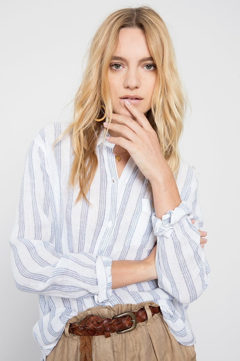 Rails Rails Charli Shirt in Cayman Stripe Tops