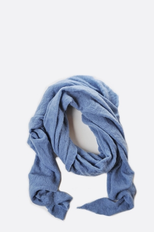 Botto Giuseppe dusty blue diamond shaped cashmere scarf Accessories