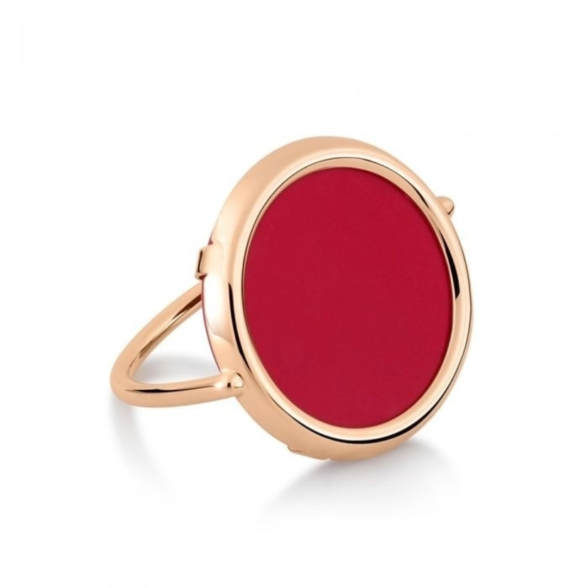 Ginette NY Maria coral disc ring Jewelry