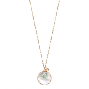 Ginette NY Maria Mother of Pearl Disc on Chain Jewelry