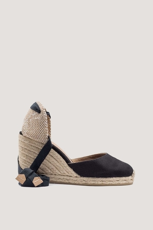 Castaner Carina Negro Wedge Espadrilles Shoes
