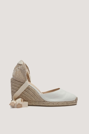 Castaner Carina Ivory Wedge Espadrilles Shoes