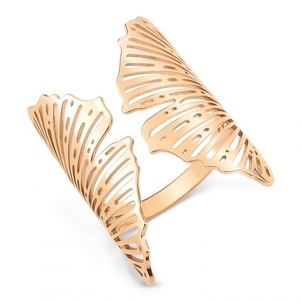 Ginette NY Large Open Gingko Ring Jewelry