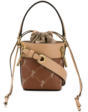Chloé Studded Horse Bucket Bag Bags