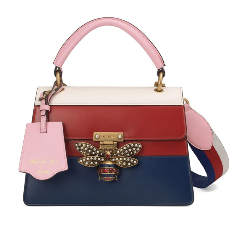 2b02e5697b33bd Gucci Queen Margaret Top Handle Bag with Embellished Bee Bags Gifts Sale