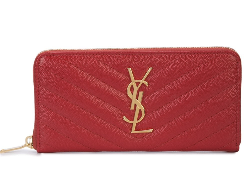 Saint Laurent Red Leather Wallet Bags Gifts