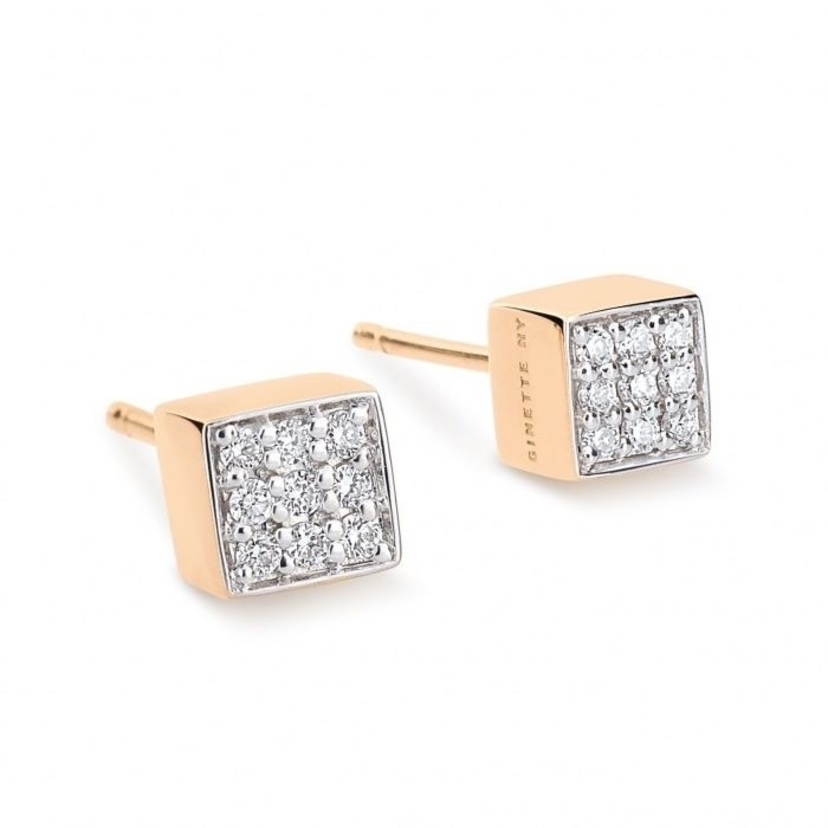 Ginette NY Mini Diamond Ever Studs Jewelry
