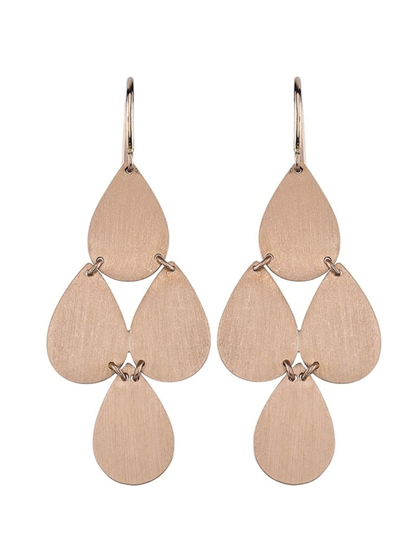 Irene Neuwirth Irene Neuwirth Signature Small Teardrop Chandelier Earrings - Rose Gold Jewelry