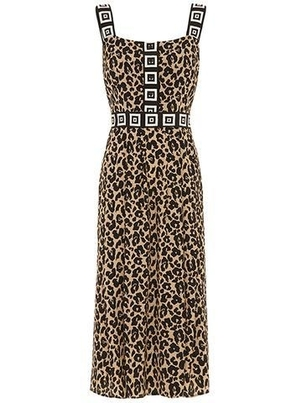 Hayley Menzies Sahara Midi Leopard Sun Dress Dresses