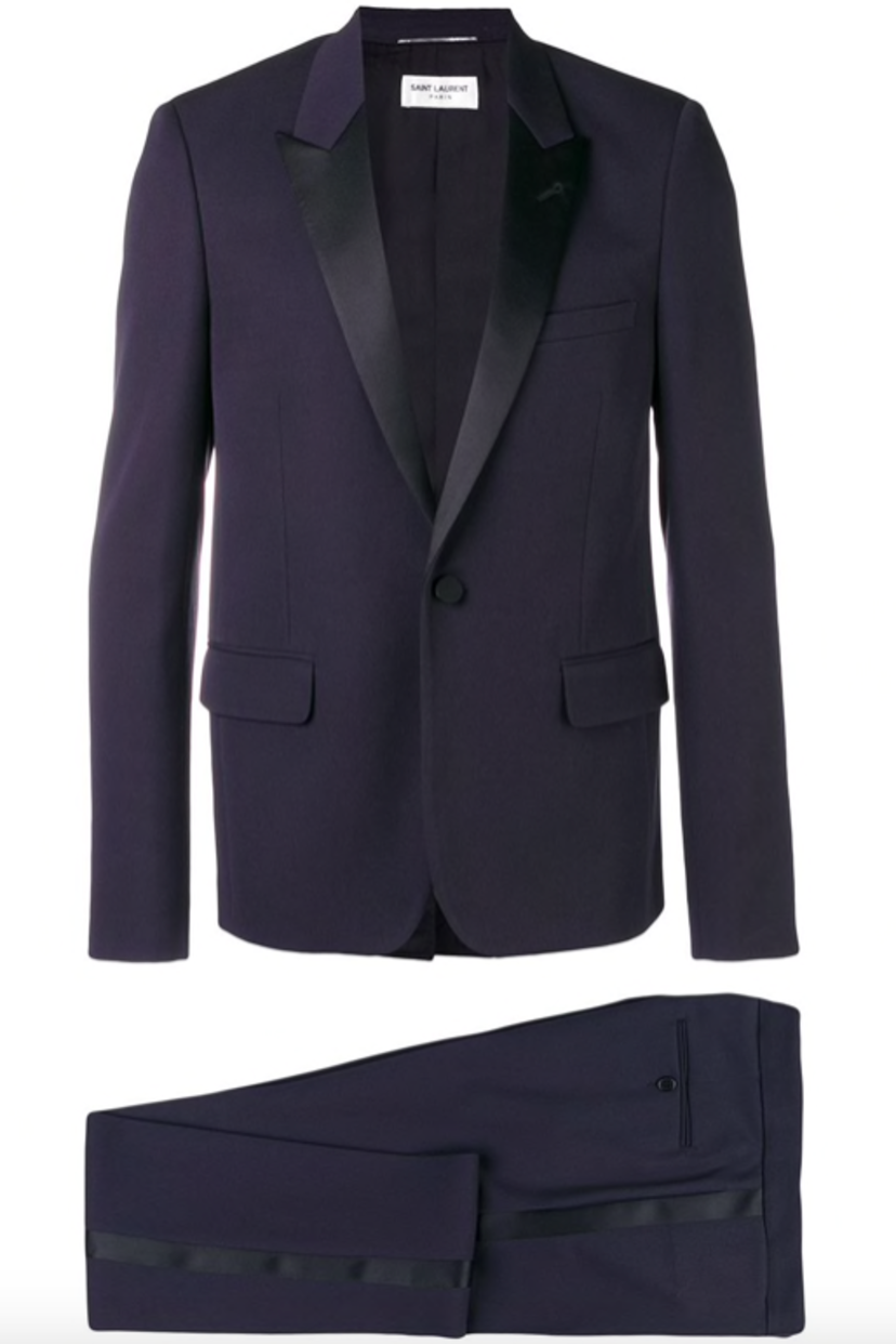 Saint Laurent PEAKED LAPEL TWO PIECE SUIT Men's